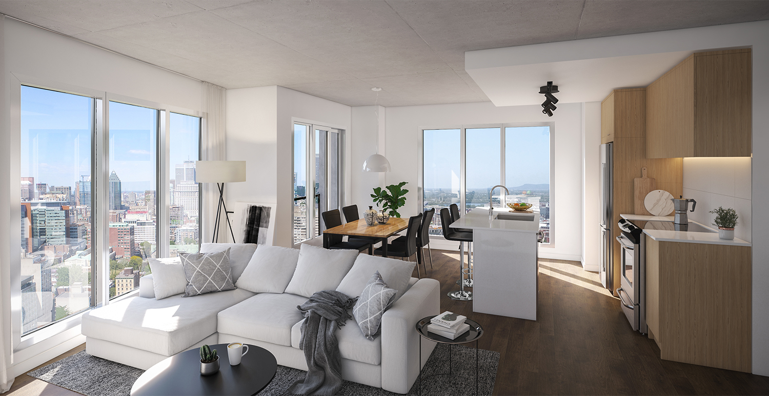 Grand Penthouse à louer à Griffintown par Devimco Appartements